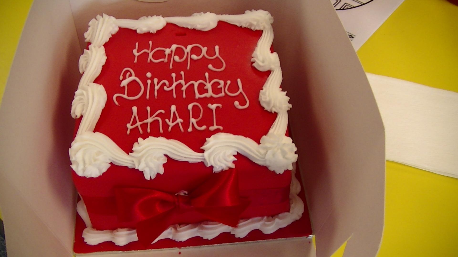 幼児英語KISのAkariがロンドンGHS留学で誕生日ケーキをもらった